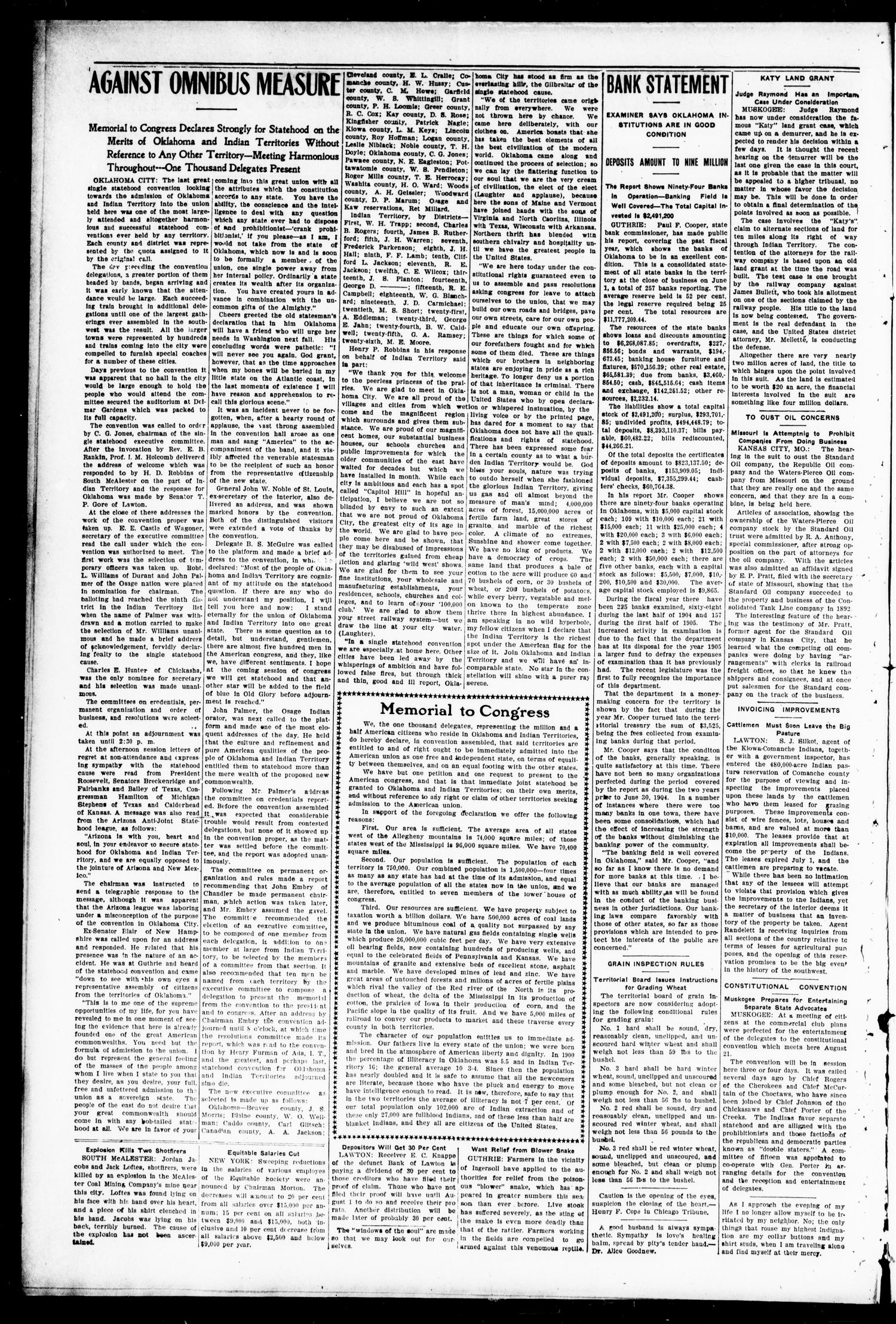 Lexington Leader. (Lexington, Okla.), Vol. 19, No. 43, Ed. 1 Friday, July 21, 1905                                                                                                      [Sequence #]: 2 of 8