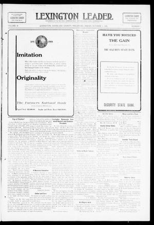 Primary view of object titled 'Lexington Leader. (Lexington, Okla.), Vol. 18, No. 3, Ed. 1 Friday, October 9, 1908'.
