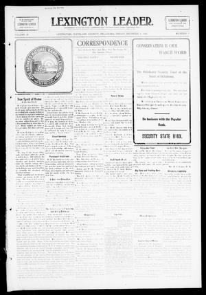 Primary view of object titled 'Lexington Leader. (Lexington, Okla.), Vol. 18, No. 11, Ed. 1 Friday, December 4, 1908'.