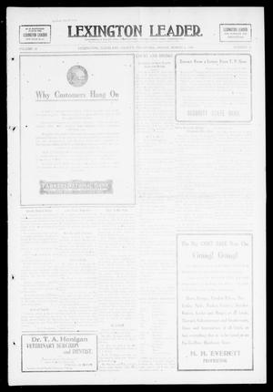 Primary view of object titled 'Lexington Leader. (Lexington, Okla.), Vol. 18, No. 24, Ed. 1 Friday, March 5, 1909'.