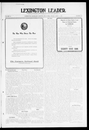 Primary view of object titled 'Lexington Leader. (Lexington, Okla.), Vol. 18, No. 38, Ed. 1 Friday, June 11, 1909'.