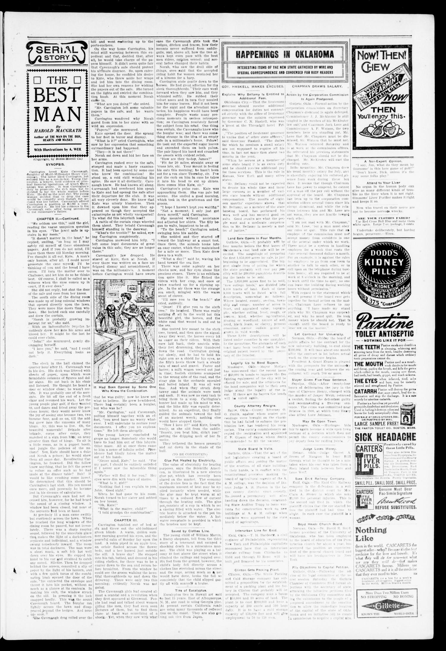 Lexington Leader. (Lexington, Okla.), Vol. 18, No. 46, Ed. 1 Friday, August 6, 1909                                                                                                      [Sequence #]: 3 of 8