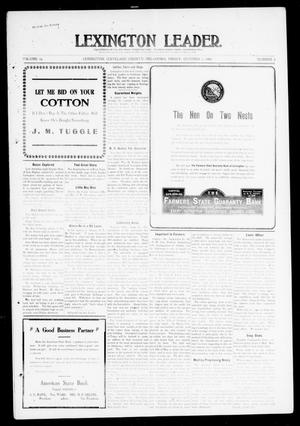 Primary view of object titled 'Lexington Leader. (Lexington, Okla.), Vol. 19, No. 2, Ed. 1 Friday, October 1, 1909'.
