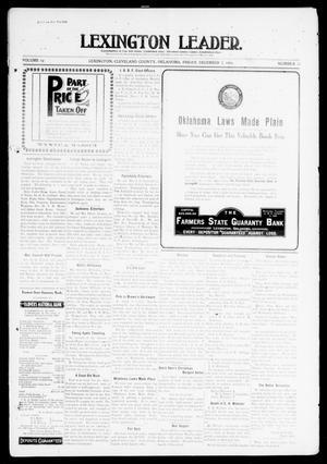 Primary view of Lexington Leader. (Lexington, Okla.), Vol. 19, No. 11, Ed. 1 Friday, December 3, 1909