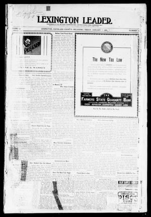 Primary view of object titled 'Lexington Leader. (Lexington, Okla.), Vol. 19, No. 16, Ed. 1 Friday, January 7, 1910'.