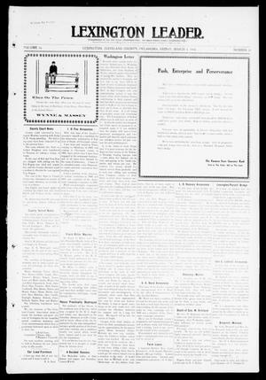 Primary view of object titled 'Lexington Leader. (Lexington, Okla.), Vol. 19, No. 24, Ed. 1 Friday, March 4, 1910'.