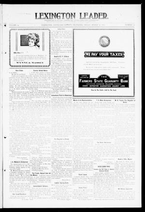 Primary view of object titled 'Lexington Leader. (Lexington, Okla.), Vol. 19, No. 26, Ed. 1 Friday, March 18, 1910'.