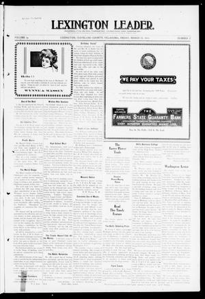 Primary view of object titled 'Lexington Leader. (Lexington, Okla.), Vol. 19, No. 27, Ed. 1 Friday, March 25, 1910'.