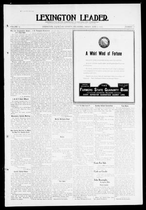 Primary view of object titled 'Lexington Leader. (Lexington, Okla.), Vol. 19, No. 37, Ed. 1 Friday, June 3, 1910'.