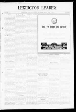 Primary view of object titled 'Lexington Leader. (Lexington, Okla.), Vol. 19, No. 38, Ed. 1 Friday, June 10, 1910'.