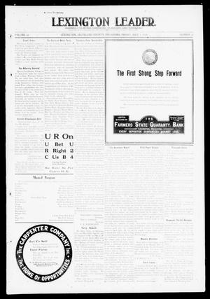 Primary view of object titled 'Lexington Leader. (Lexington, Okla.), Vol. 19, No. 41, Ed. 1 Friday, July 1, 1910'.