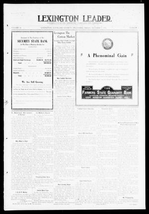 Primary view of object titled 'Lexington Leader. (Lexington, Okla.), Vol. 20, No. 3, Ed. 1 Friday, October 7, 1910'.