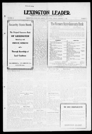 Primary view of object titled 'Lexington Leader. (Lexington, Okla.), Vol. 20, No. 16, Ed. 1 Friday, January 6, 1911'.