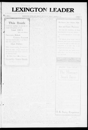 Lexington Leader (Lexington, Okla.), Vol. 20, No. 25, Ed. 1 Friday, March 10, 1911