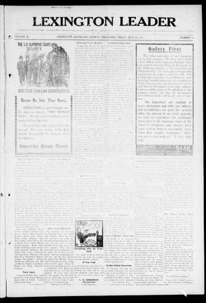 Lexington Leader (Lexington, Okla.), Vol. 20, No. 36, Ed. 1 Friday, May 26, 1911
