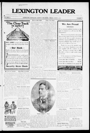 Lexington Leader (Lexington, Okla.), Vol. 20, No. 39, Ed. 1 Friday, June 16, 1911