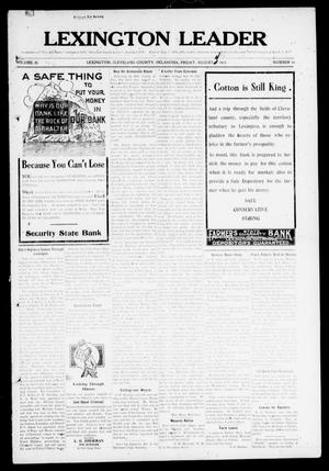 Lexington Leader (Lexington, Okla.), Vol. 20, No. 46, Ed. 1 Friday, August 4, 1911