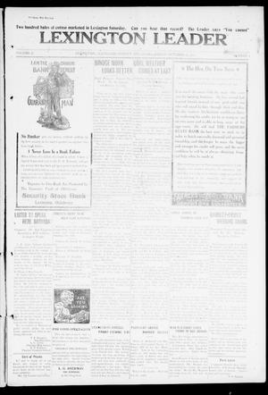 Primary view of object titled 'Lexington Leader (Lexington, Okla.), Vol. 21, No. 4, Ed. 1 Friday, October 13, 1911'.