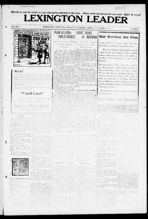 Lexington Leader (Lexington, Okla.), Vol. 21, No. 8, Ed. 1 Friday, November 10, 1911