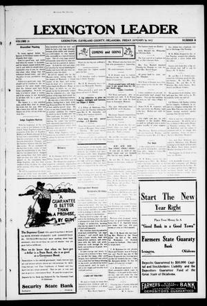 Lexington Leader (Lexington, Okla.), Vol. 21, No. 18, Ed. 1 Friday, January 19, 1912