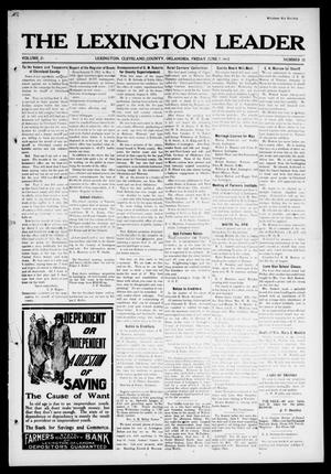 Primary view of object titled 'The Lexington Leader (Lexington, Okla.), Vol. 21, No. 38, Ed. 1 Friday, June 7, 1912'.