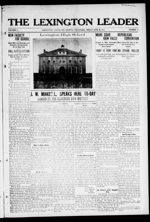 Primary view of object titled 'The Lexington Leader (Lexington, Okla.), Vol. 21, No. 41, Ed. 1 Friday, June 28, 1912'.