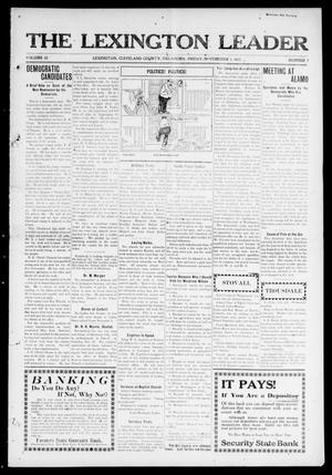 Primary view of object titled 'The Lexington Leader (Lexington, Okla.), Vol. 22, No. 7, Ed. 1 Friday, November 1, 1912'.