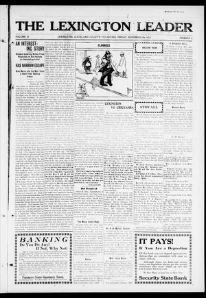 Primary view of object titled 'The Lexington Leader (Lexington, Okla.), Vol. 22, No. 11, Ed. 1 Friday, November 29, 1912'.