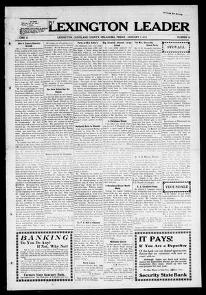 Primary view of object titled 'The Lexington Leader (Lexington, Okla.), Vol. 22, No. 16, Ed. 1 Friday, January 3, 1913'.