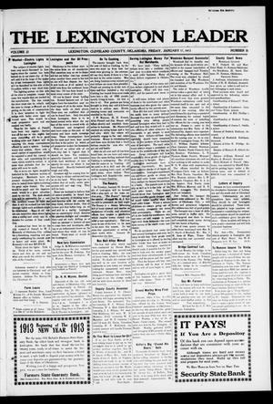 The Lexington Leader (Lexington, Okla.), Vol. 22, No. 18, Ed. 1 Friday, January 17, 1913