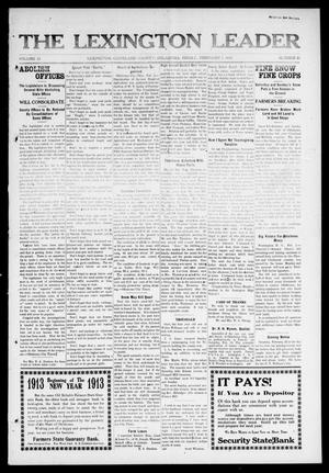 Primary view of object titled 'The Lexington Leader (Lexington, Okla.), Vol. 22, No. 21, Ed. 1 Friday, February 7, 1913'.