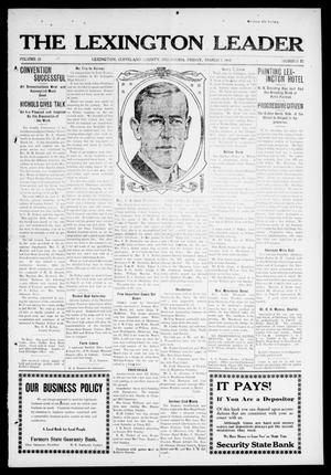 Primary view of object titled 'The Lexington Leader (Lexington, Okla.), Vol. 22, No. 25, Ed. 1 Friday, March 7, 1913'.