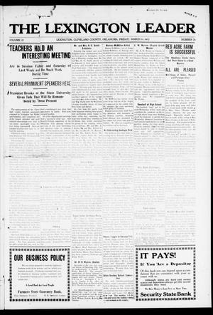 Primary view of object titled 'The Lexington Leader (Lexington, Okla.), Vol. 22, No. 26, Ed. 1 Friday, March 14, 1913'.