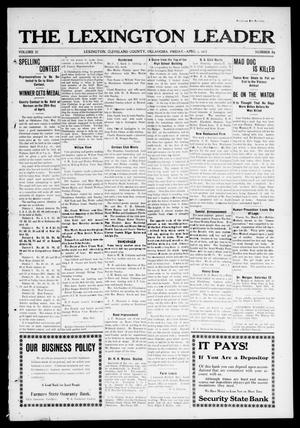 Primary view of object titled 'The Lexington Leader (Lexington, Okla.), Vol. 22, No. 29, Ed. 1 Friday, April 4, 1913'.