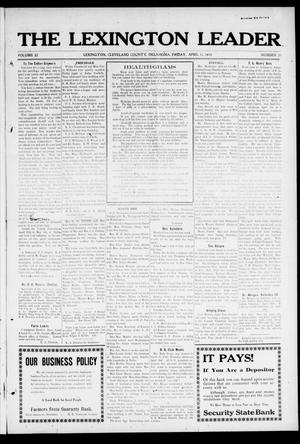 Primary view of object titled 'The Lexington Leader (Lexington, Okla.), Vol. 22, No. 30, Ed. 1 Friday, April 11, 1913'.