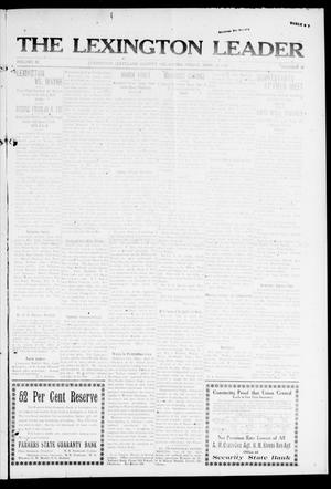 Primary view of object titled 'The Lexington Leader (Lexington, Okla.), Vol. 22, No. 32, Ed. 1 Friday, April 25, 1913'.
