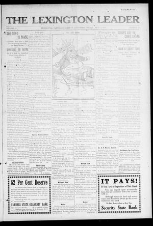 Primary view of object titled 'The Lexington Leader (Lexington, Okla.), Vol. 22, No. 39, Ed. 1 Friday, June 13, 1913'.
