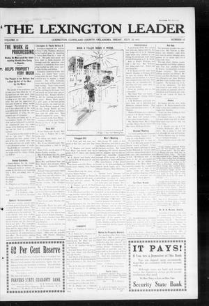 Primary view of object titled 'The Lexington Leader (Lexington, Okla.), Vol. 22, No. 45, Ed. 1 Friday, July 25, 1913'.