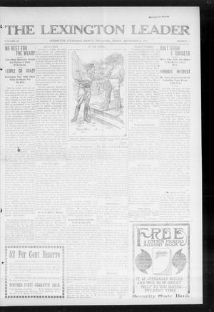 Primary view of object titled 'The Lexington Leader (Lexington, Okla.), Vol. 23, No. 2, Ed. 1 Friday, September 26, 1913'.