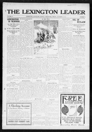 Primary view of object titled 'The Lexington Leader (Lexington, Okla.), Vol. 23, No. 4, Ed. 1 Friday, October 10, 1913'.