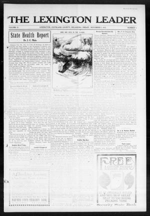 Primary view of object titled 'The Lexington Leader (Lexington, Okla.), Vol. 23, No. 8, Ed. 1 Friday, November 7, 1913'.