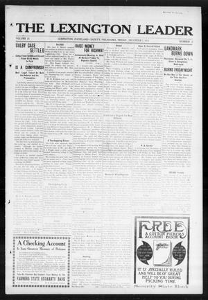 Primary view of object titled 'The Lexington Leader (Lexington, Okla.), Vol. 23, No. 12, Ed. 1 Friday, December 5, 1913'.