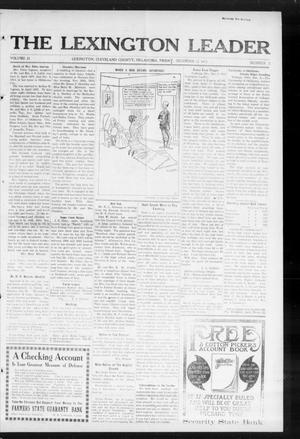 Primary view of object titled 'The Lexington Leader (Lexington, Okla.), Vol. 23, No. 13, Ed. 1 Friday, December 12, 1913'.