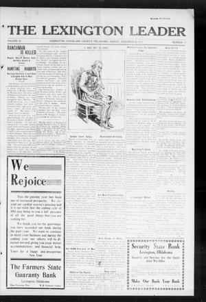 Primary view of object titled 'The Lexington Leader (Lexington, Okla.), Vol. 23, No. 15, Ed. 1 Friday, December 26, 1913'.