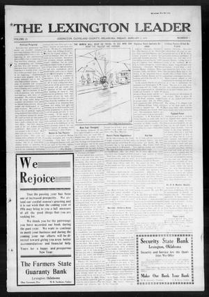 Primary view of object titled 'The Lexington Leader (Lexington, Okla.), Vol. 23, No. 16, Ed. 1 Friday, January 2, 1914'.