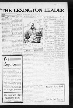 Primary view of object titled 'The Lexington Leader (Lexington, Okla.), Vol. 23, No. 18, Ed. 1 Friday, January 16, 1914'.