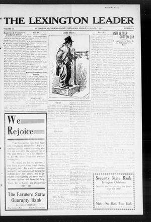 Primary view of object titled 'The Lexington Leader (Lexington, Okla.), Vol. 23, No. 19, Ed. 1 Friday, January 23, 1914'.