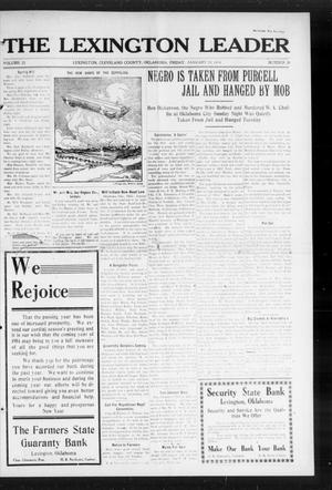 Primary view of object titled 'The Lexington Leader (Lexington, Okla.), Vol. 23, No. 20, Ed. 1 Friday, January 30, 1914'.