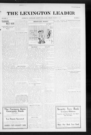 Primary view of object titled 'The Lexington Leader (Lexington, Okla.), Vol. 23, No. 27, Ed. 1 Friday, March 20, 1914'.
