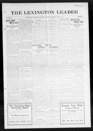 Primary view of object titled 'The Lexington Leader (Lexington, Okla.), Vol. 23, No. 29, Ed. 1 Friday, April 3, 1914'.
